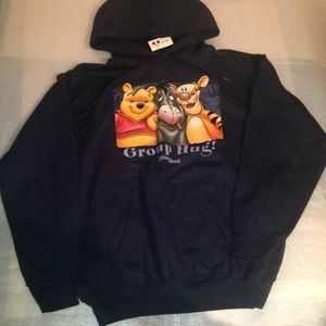 Disneyland Group Hug Winnie The Pooh Hoodie Sweat